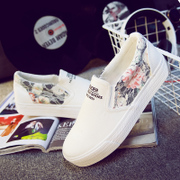 A lazy summer pedal shoes casual shoes cloth shoes with flat bottom shoes shoes shoes thick white tide