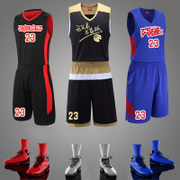 The new sports men basketball clothing mark printing custom basketball training suit shirt suit suit