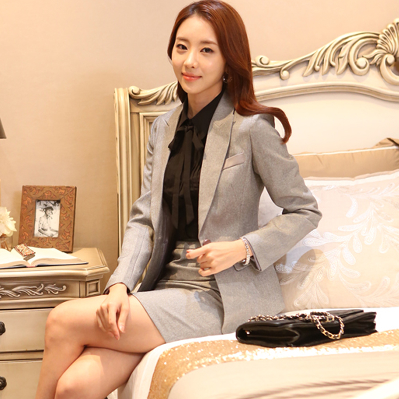 Korean occupation female monkey suit gold jewelry studio cosmetics hotel guide sales work clothes