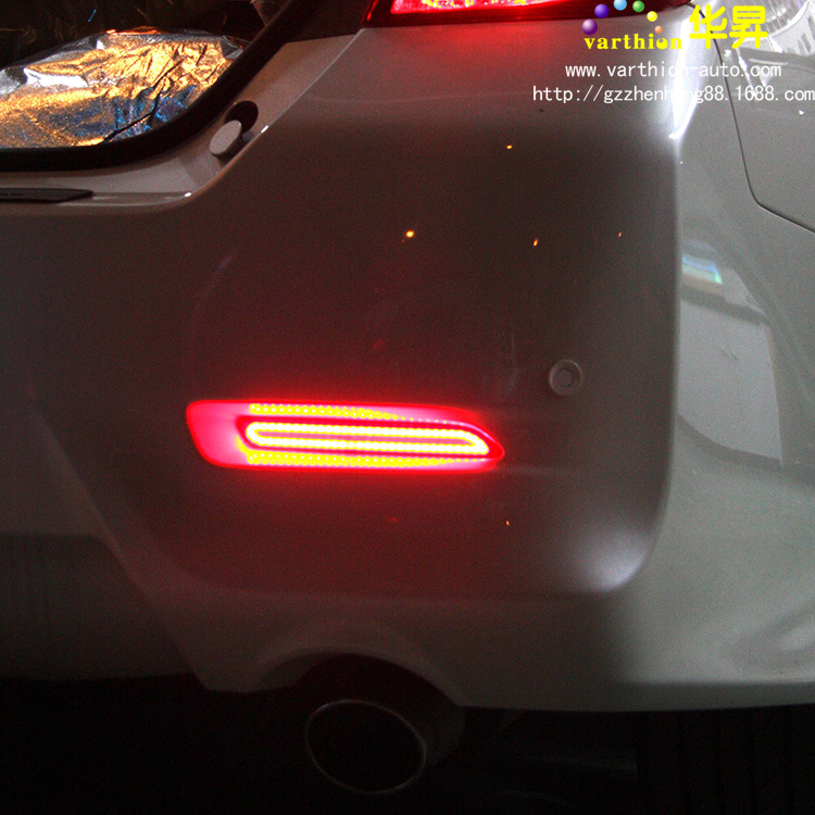 New reiz bar lamp after modification Camry led rear bumper from special led taillights brake lights