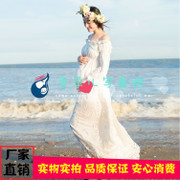 Rent the new 2017 white word shoulder pregnant women baring costumes Photography studio personal pictorial themes