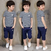 Children Summer Boys suits 2017 new Korean tide children children two summer kids wear short sleeved