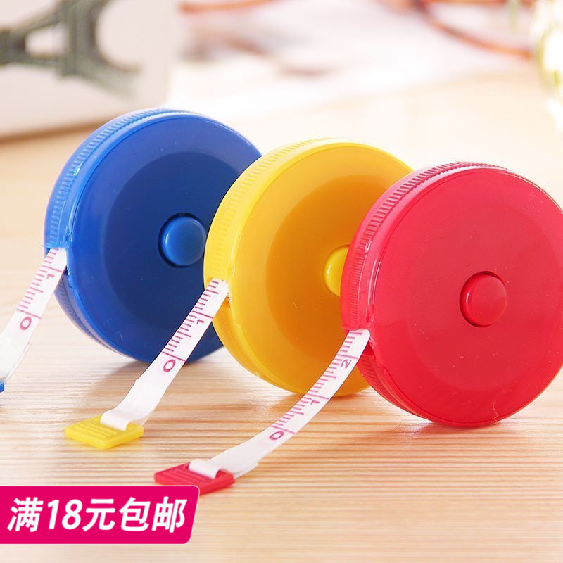 Cute mini plastic tape clothing clothing ruler automatic telescopic type small tape 1.5 metersfoot random hair
