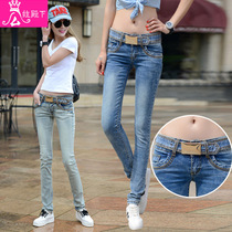 Ladies jeans trousers new spring and autumn winter stretch slim slim Korean students feet pencil pants in summer