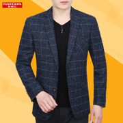 Korean men and middle-aged British Slim small suit thin coat suits casual jacket single Xichao