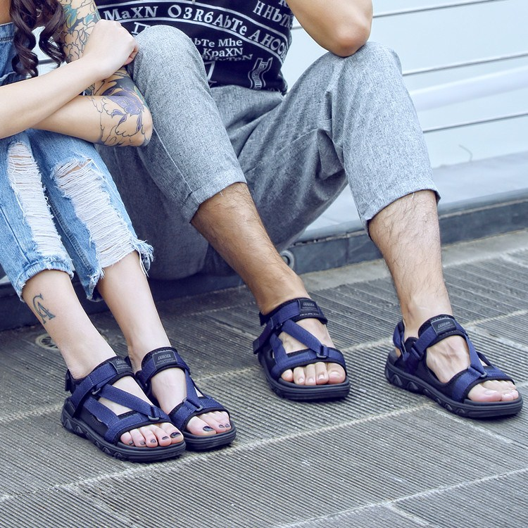 Vietnamese sandals, men and women, 2017 summer tide, new Korean style, fashionable toes, outdoor leisure, lovers, harbor wind, beach heart