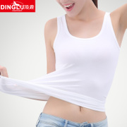 Ladies Cotton Camisole loose h t shirt short paragraph tide ride outside wearing sleeveless shirt in summer