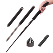 Rejection and self-defense self-defense weapons baton vehicle supplies whiplash fall stick self-defense stick three section stick steel telescopic stick swing rod
