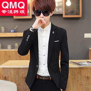 Young men fall in Korean men with male suit slim velvet suit jacket casual suit students tide