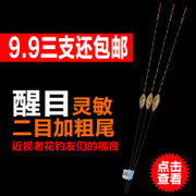 Float float tail suit suit Shengle bold eye-catching carp fishing tackle fishing supplies myopia drift buoy