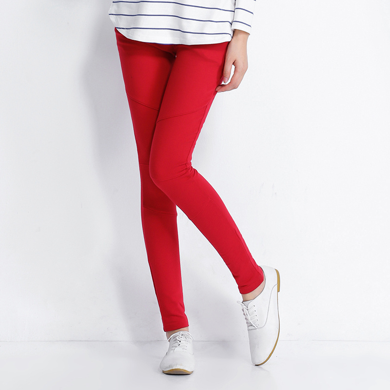 Ms black leggings cultivate one's morality pregnant women wear red autumn render foot abdominal pants