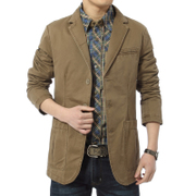The spring and autumn men's casual jacket Jeep Mens Suit Jacket cotton casual suit small single thin section of West