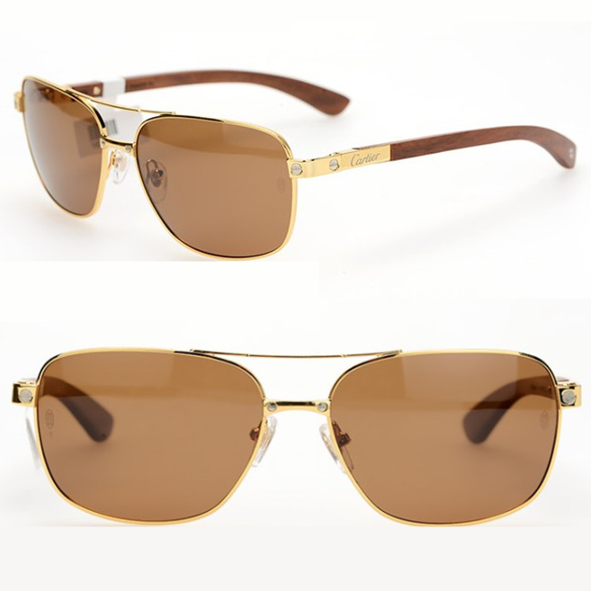 Cartier Sun glasses polarized driving sunglasses sunglasses admirable myopia driving frog mirror wooden leg hipster