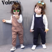 2017 new 0 female baby girls 1 spring 2 3 year old baby wear clothes and pants suit the tide.