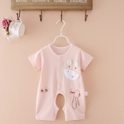 Summer cotton thin baby baby romper shorts and short sleeved clothes in Summer Opening