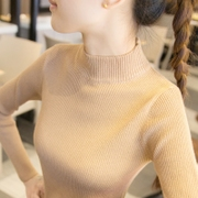 Half Turtleneck Shirt Short Sleeved sweater female models 9a11c sleeve head all-match slim tight sweaters