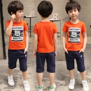 The child of 3 kids boys summer suit 2017 new 5 children during the 7 9 year old boy in short sleeved Korean tide