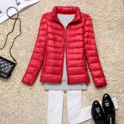 Her new jacket thin female short collar slim slim Korean winter coat large size women season clearance