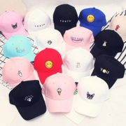 Korean version of the GD with a black and white hat female leisure hat all-match Baseball Cap Hat summer and peaked cap