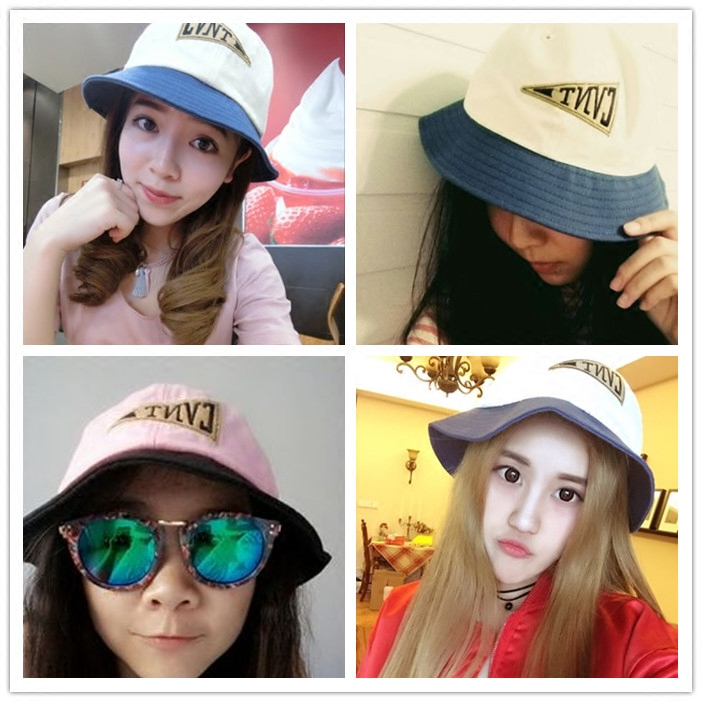 Mail Korea edition, summer tour alphabet, sun visor, basin hat, sun hat, big eaves fisherman hat, madam