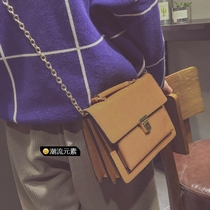 Package for 2017 new Korean wave package about the retro nubuck leather chain brief bags shoulder bag women