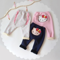 Cashmere baby leggings and thick winter wear harem pants pp pants baby PP pants girls winter