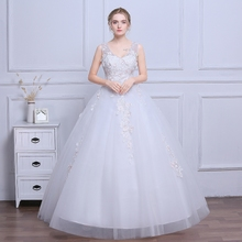 2017 new autumn bride wedding dress wedding flowers large size Korean shoulders thin tail Qi female