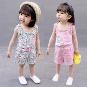 2017 new 0 virgin female baby summer 1 2 3 year old Korean clothes baby wear 4 cotton two piece suit 5 tide