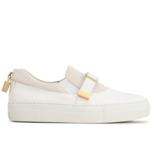 Genuine purchasing BUSCEMI ladies textured leather low-cut lock shoes