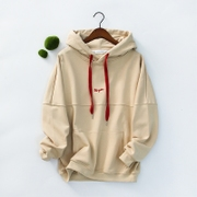 Ulzzang female Hooded Sweater sleeve head thin section of Korean students relaxed tide BF splice coats wind source