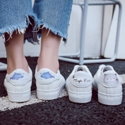 Worl Seniors Street Clap small white shoes female spring 2018 New hundred Korean version of Students chic Board shoes flat bottom white shoes