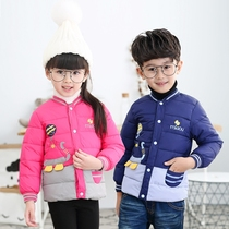 Childrens clothing for boys and girls down padded winter clearance baby short thick coat new style padded liner
