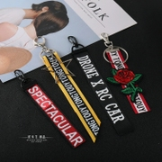 Buy 2 get 1 fashion jewelry fashion jeans popular accessories English ribbon strap trousers hook Pendant Reku letters