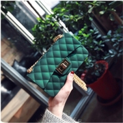 In the spring of new small fragrant bag Mini Crossbody Lingge package matte matte jelly chain mobile phone packages