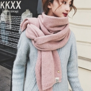 Pineapple scarf female winter Korean version of wild students thick thick Japanese soft sister small fresh knitted wool collar