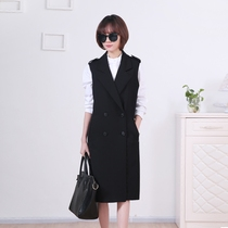 Special Spring dresses every day in the Korean version of the vest womens black Joker around wallet slim plus size jacket coat belts