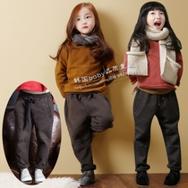 Autumn winter 16 Korean version boys girls children in cotton and wool-thickened harem pants casual pants childrens long pants