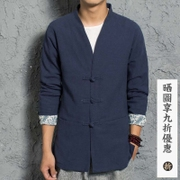 China wind autumn youth men lay clothes cotton casual dresses, jacket size modified Chinese Hanfu
