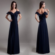 20,161 neck strapless Navy high waisted women pregnant women plus size bridesmaid dresses v-neck strap dress