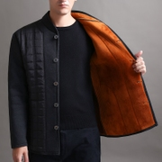 In elderly male with cotton velvet jacket winter thickening tank father put men size father cotton padded jacket