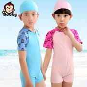 Children short quick dry boy spa swimsuit Siamese swimsuit girl beach surf wear sunscreen over swimsuit