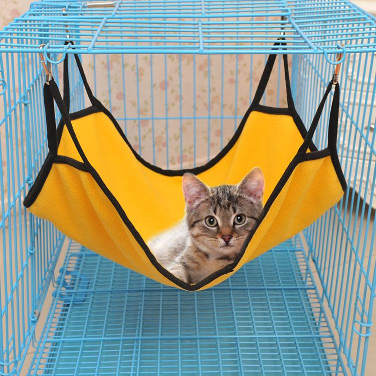 The, cat, cat, cat, pad, summer, hammock, bed,, breathable, cotton, vel