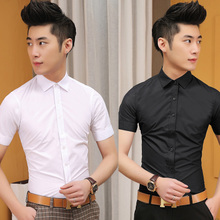 The man with short sleeved summer men's shirt shirt young boy youth daily ordinary clothes tide.