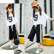 Big boy girls summer suit style 2017 summer sports kids in summer a set of two girls