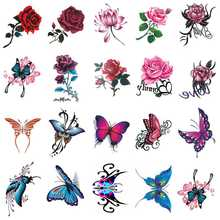 2020 new tattoo stick waterproof female lasting rose and butterfly