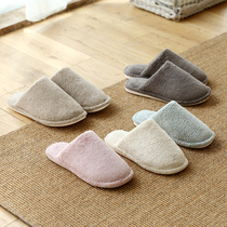 Lazy corner indoor home Slippers winter cotton Slippers lovers home skid warm floor Slippers 65917