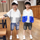 Meters West fruit children boys jackets summer dress 2018 new tide mounted tops thin paragraph big child boy Korean version of casual