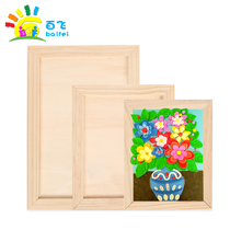 Blank wooden frame wooden nursery wall decorative childrens painting display frame DIY handmade photo frame