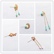 Costume Doll Headdress bead 釵 Step rocking earrings necklace can be lovely Barbie doll can be used hairpin change decorations
