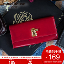 Il Minnie 2017 autumn winter new product first layer of leather long wallet colorful large capacity vintage exquisite and practical handbags